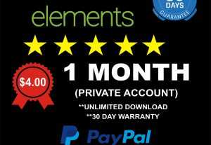 5242Envato Elements – Private account – 1 Month License